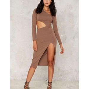 Nasty Gal Cutout Midi Dress